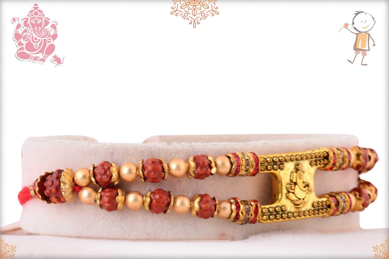 Ganeshji with Rudraksh Bracelet-Style Rakhi 2