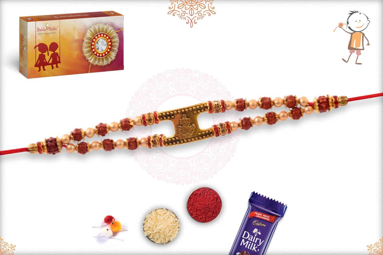 Ganeshji with Rudraksh Bracelet-Style Rakhi 3