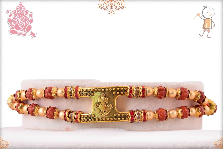 Ganeshji with Rudraksh Bracelet-Style Rakhi 1