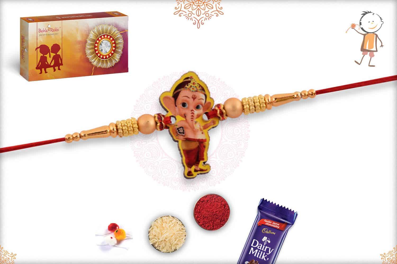 Super Cute Bal Ganesh Kids Rakhi 1