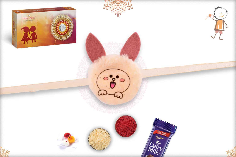 Soft Bunny Kids Rakhi 1