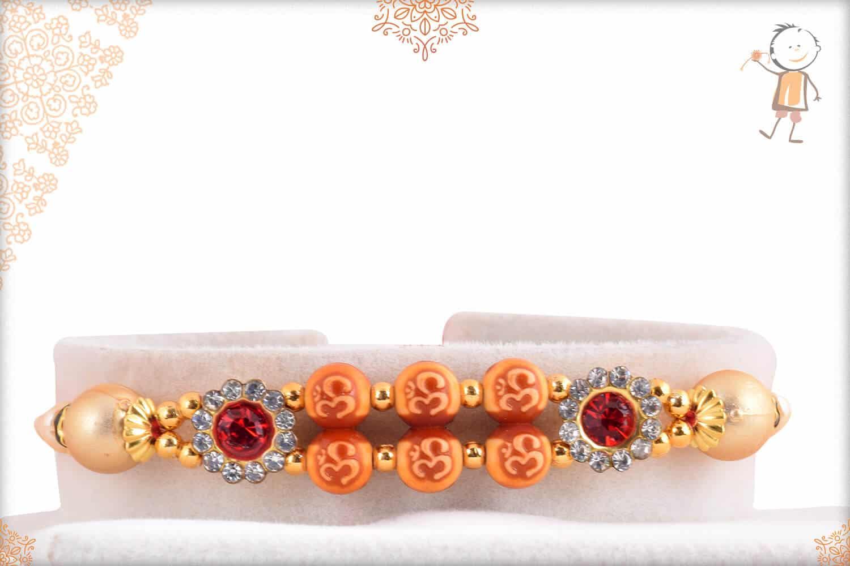Classic OM Rakhi with Diamonds 1