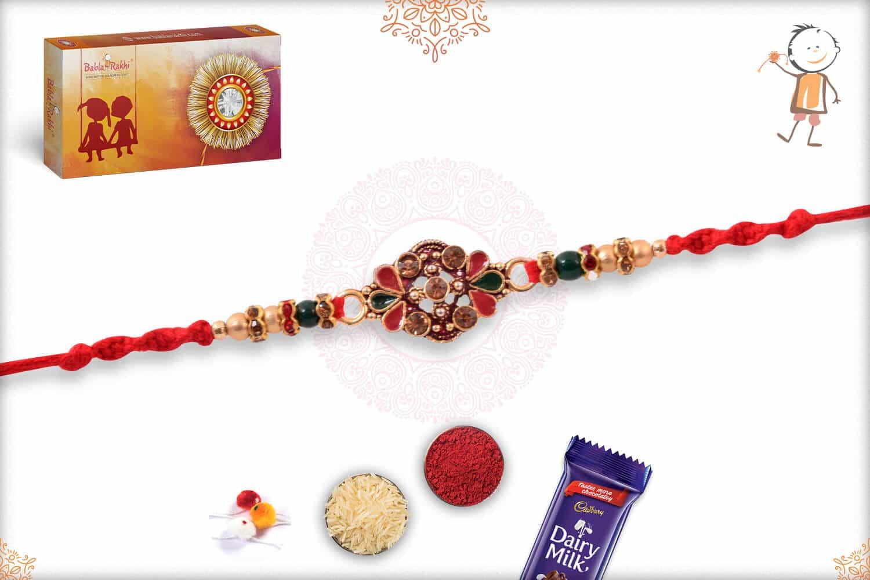 Exclusive Diamond Rakhi with Beads 2