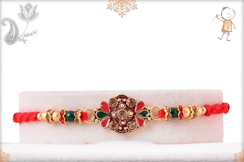Exclusive Diamond Rakhi with Beads 1
