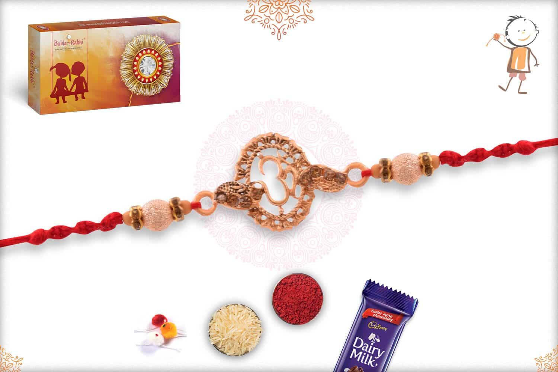 Rose Gold OM Rakhi 2