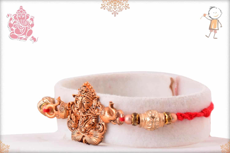 Rose Gold Ganesh Rakhi 2