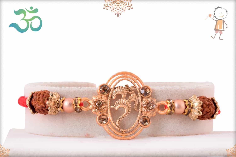 Rose Gold OM Rakhi 1