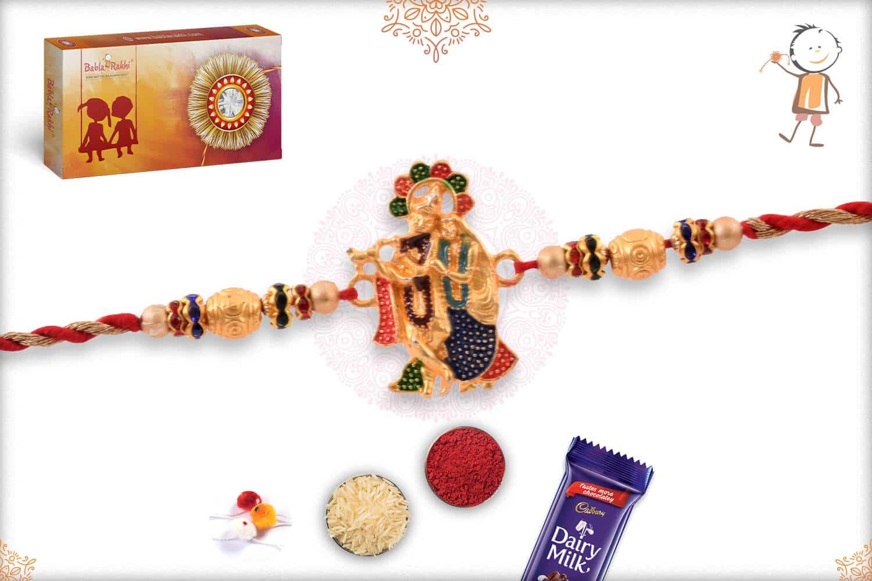 Meenakari Radha-Krishna Rakhi 2