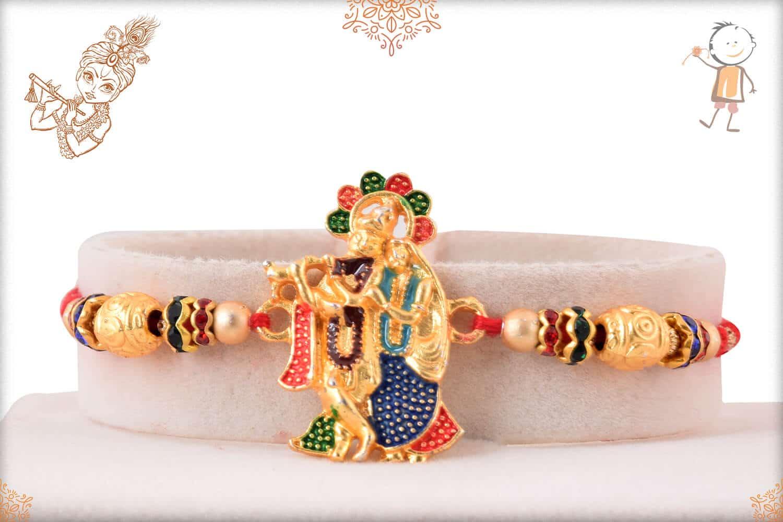 Meenakari Radha-Krishna Rakhi 1