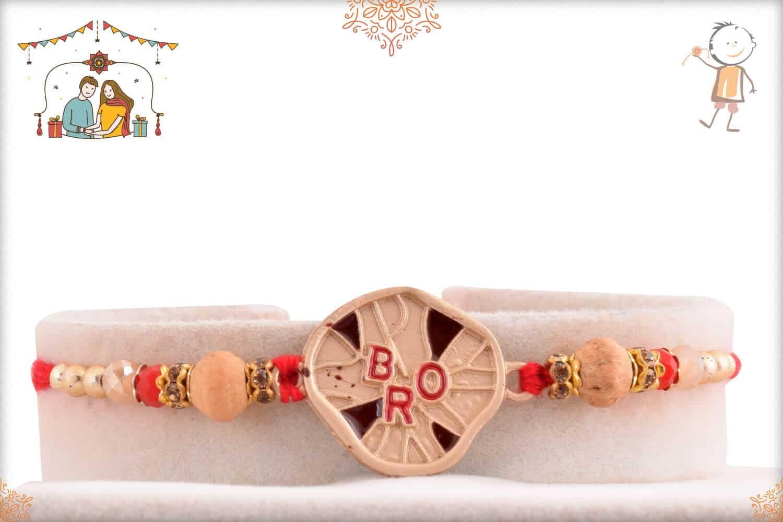 Unique Bro Rakhi with Sandalwood Beads 1