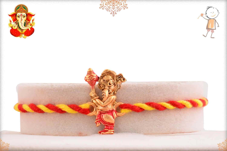 Ganesh Rakhi with Red-Yellow Thread 1