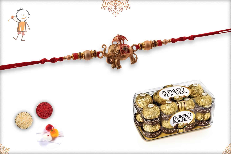 Rakhi with Ferrero Rocher 1
