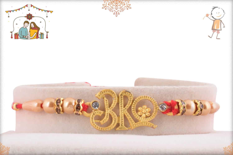 Elegant Bro Rakhi with Pearls and Diamonds 1
