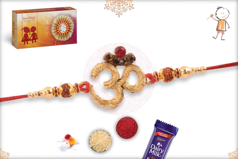 Powerful Combination of OM and Rudraksha Rakhi 2