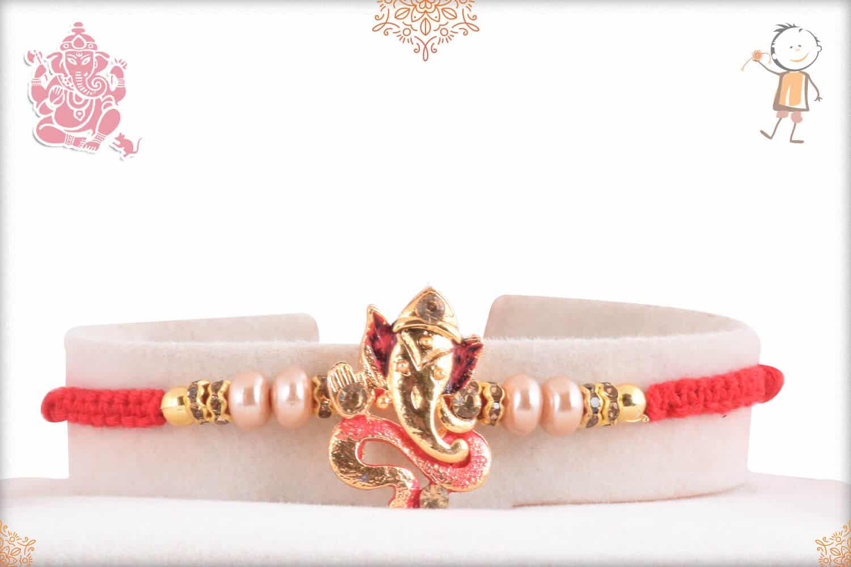 Unique Ganeshji Rakhi with Pearls 1