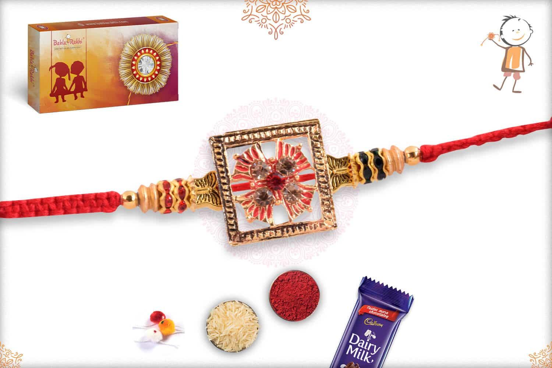 Unique Punjabi Rakhi with Diamonds 2
