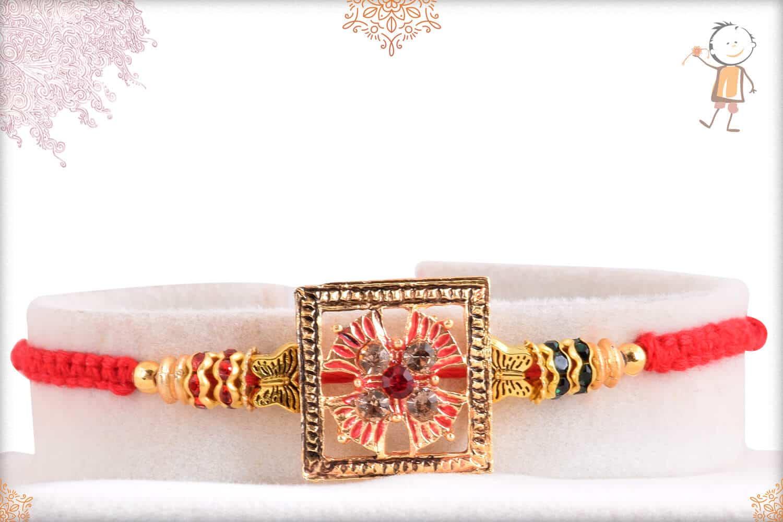 Unique Punjabi Rakhi with Diamonds 1