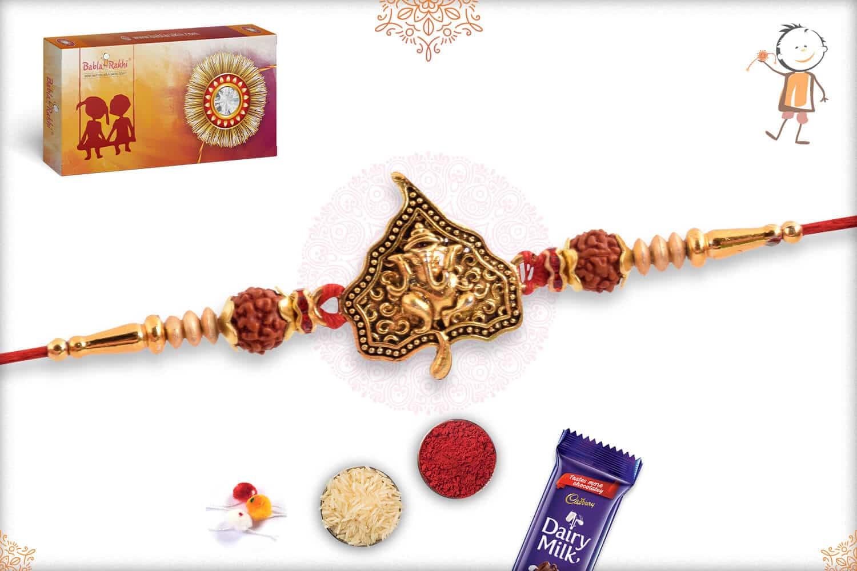 Divine Ganeshji on Leaf Rakhi 2