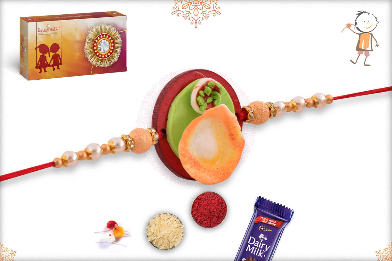 Dosa Wooden Food Rakhi 2