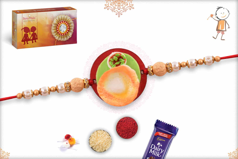 Dosa Wooden Food Rakhi 1