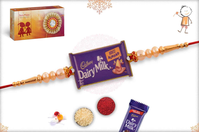 Dairy Milk Wooden Rakhi 1