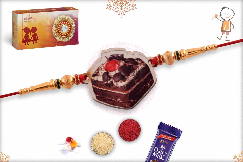 Cake Wooden Rakhi 1