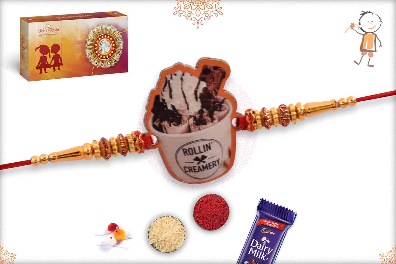 Ice cream Wooden Rakhi 1