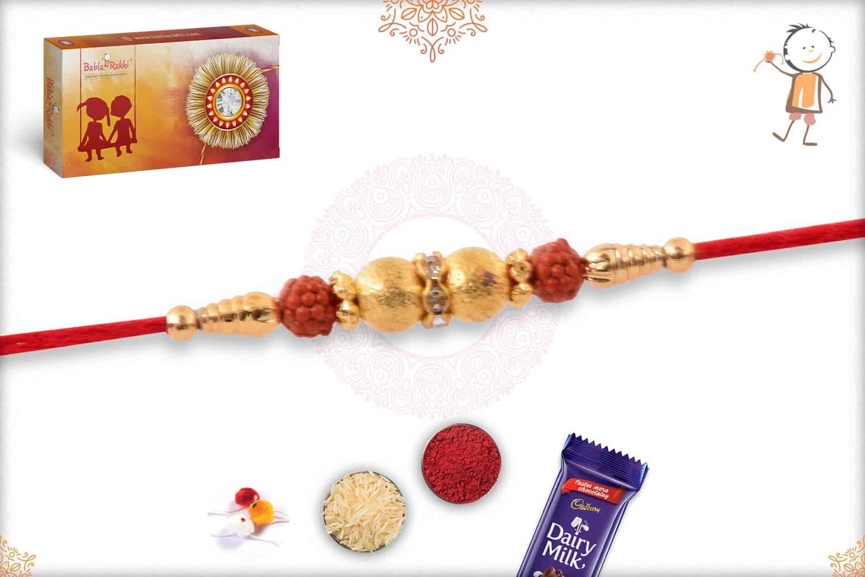 Delicate Golden Rakhi 2