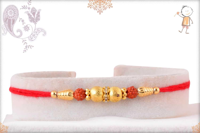 Delicate Golden Rakhi 1