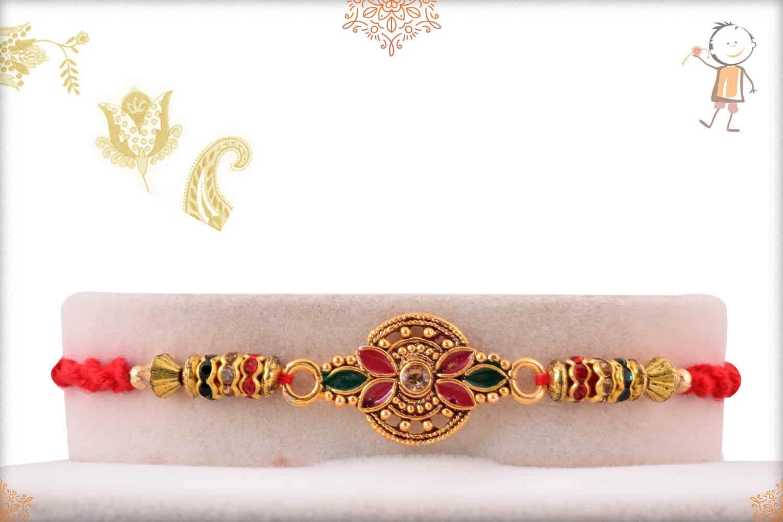 Beautiful Handcrafted Golden Rakhi 1