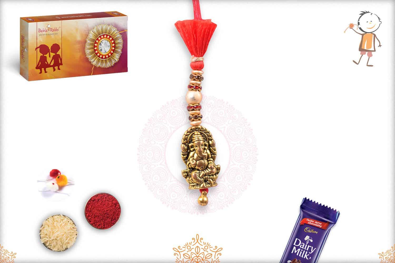 Auspicious Ganeshji Bhabhi Rakhi 1