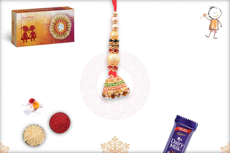 Traditional Golden Lumba Rakhi 1