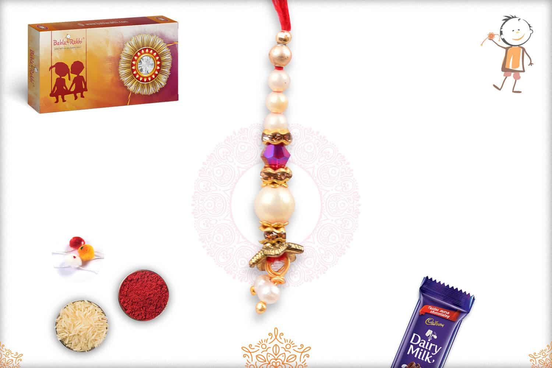 Stunning Pearl Lumba Rakhi 1