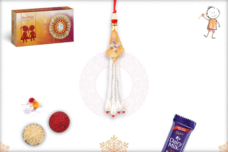 Exquisite Pearl Bhabhi Rakhi 1