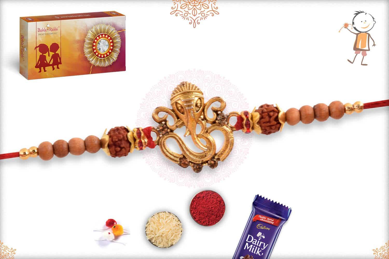 Unique Ganeshji with OM Rakhi 2