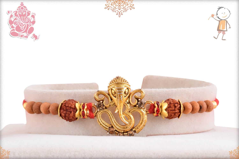 Unique Ganeshji with OM Rakhi 1