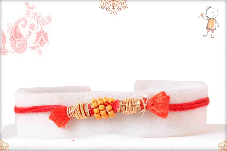 Uniquely Knotted Beads with Zardosi Rakhi 1