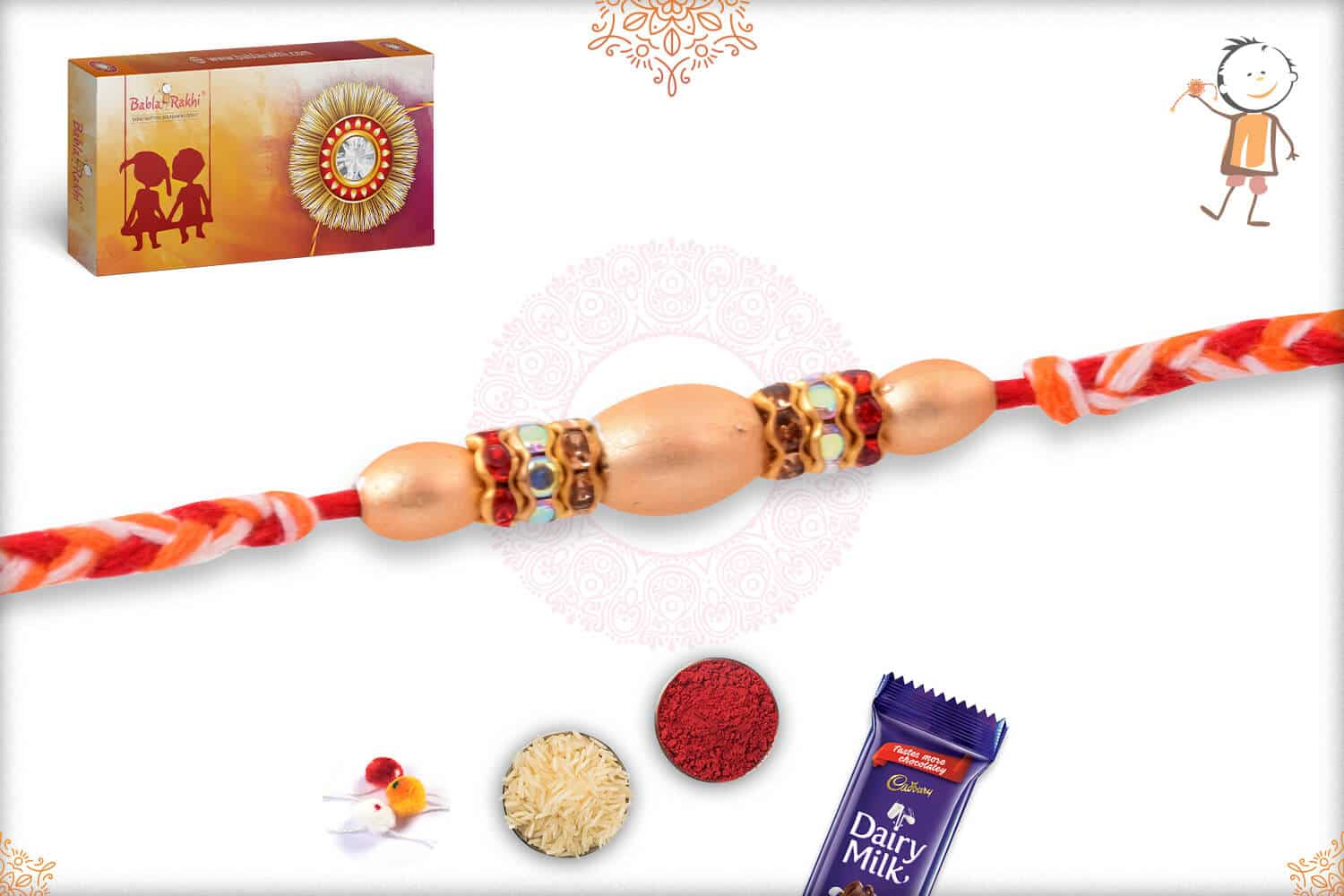 Uniquely Knotted Pearl Rakhi 2