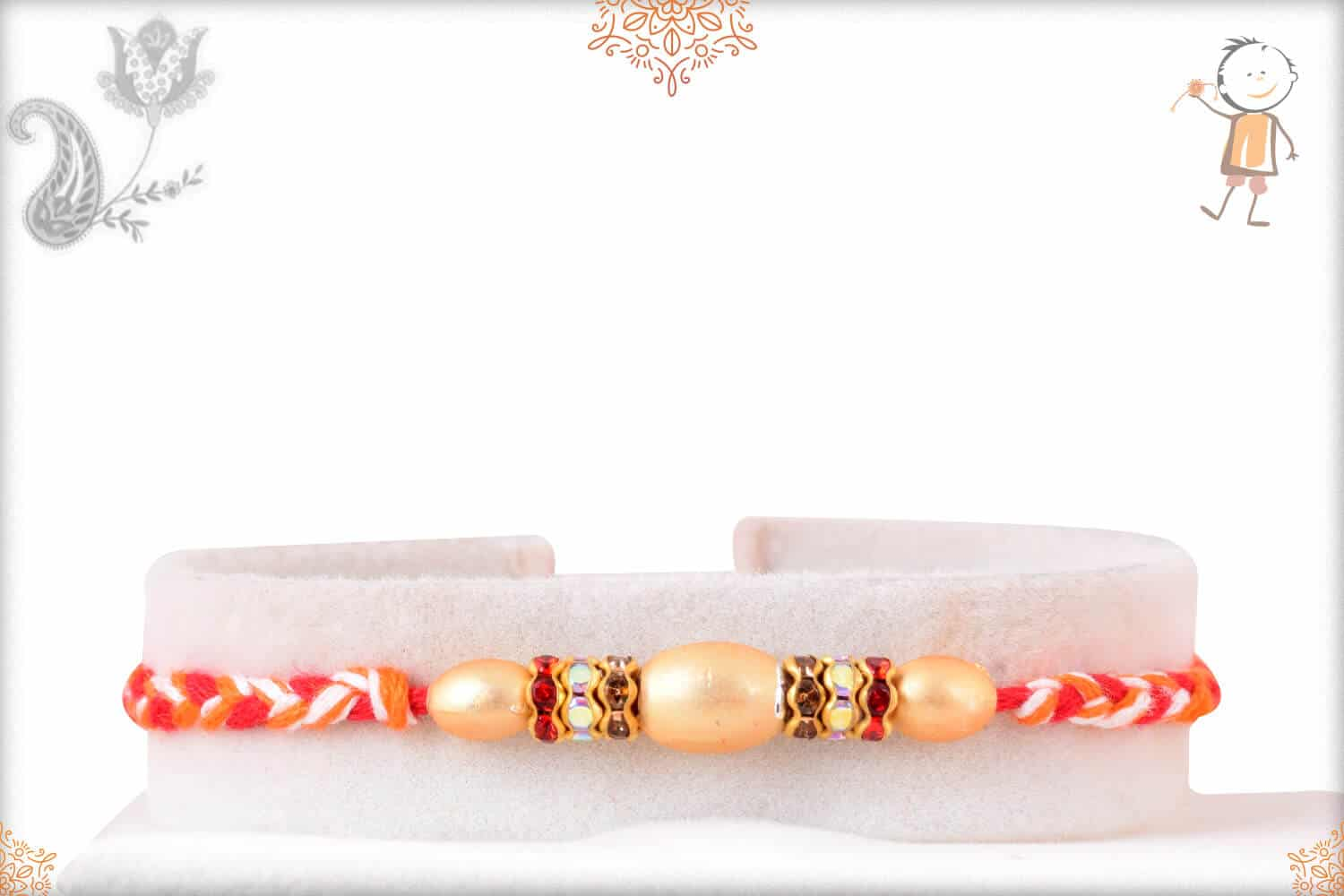 Uniquely Knotted Pearl Rakhi 1