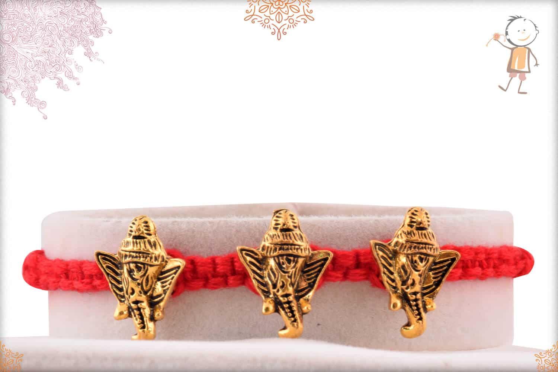 Uniquely Knotted Ganesh Rakhi 1