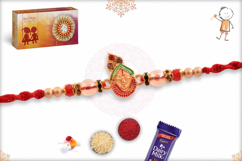 Auspicious Shreenathji Rakhi with Beads 2