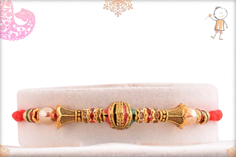 Traditional Mauli Rakhi with Diamonds 1