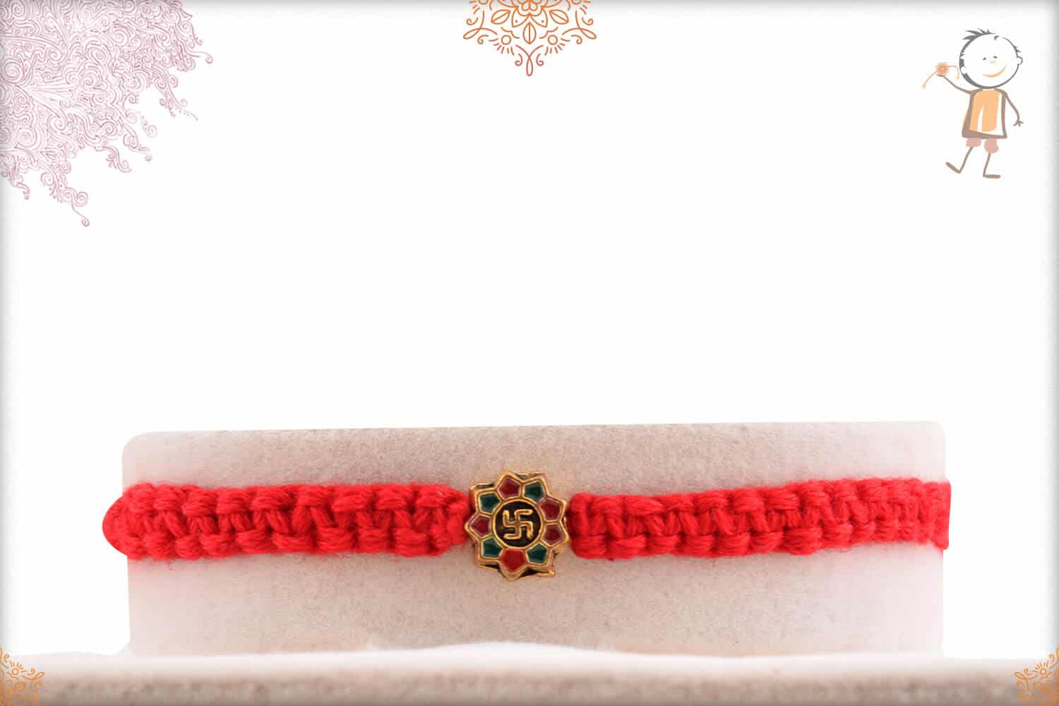 Stunning OM Rakhi with Uniquely Crafted Thread 2