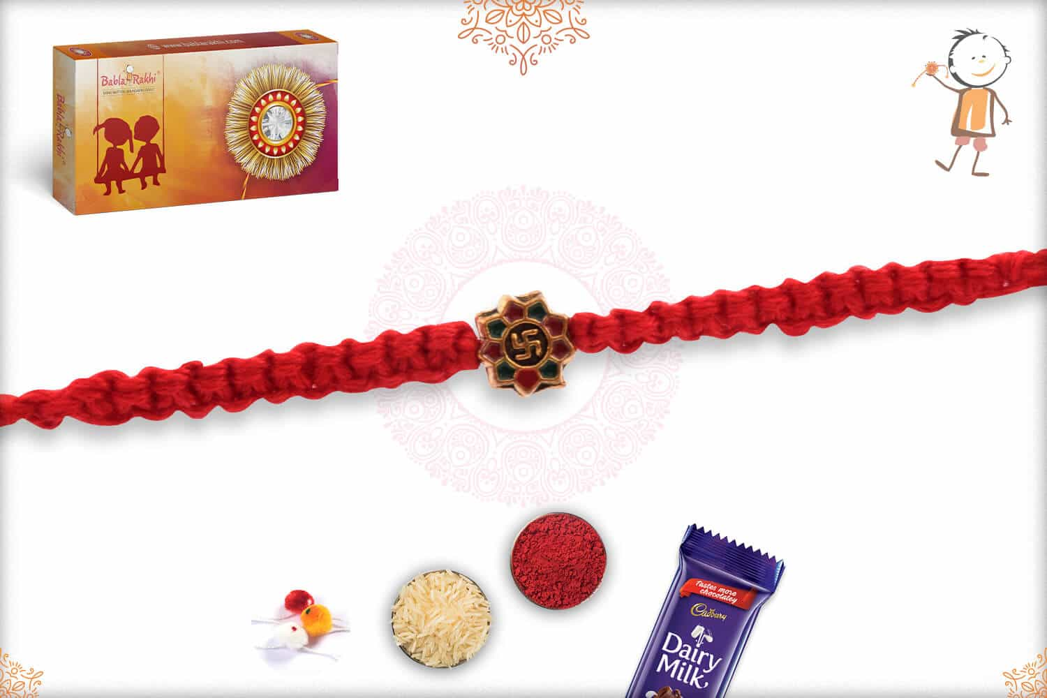 Stunning OM Rakhi with Uniquely Crafted Thread 3