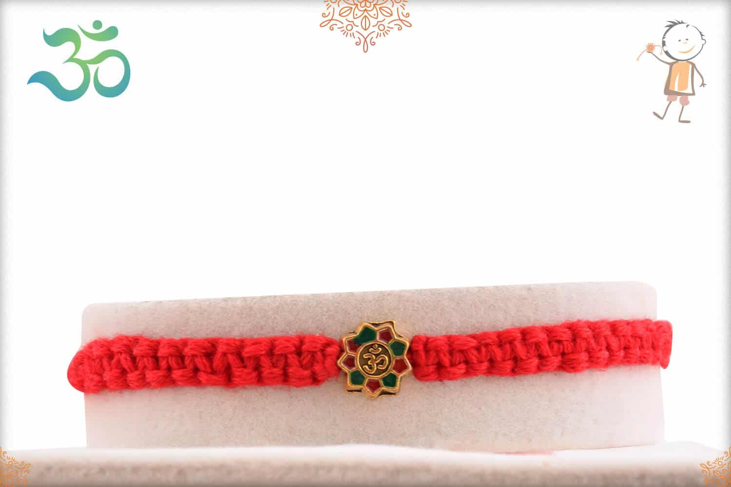 Stunning OM Rakhi with Uniquely Crafted Thread 1