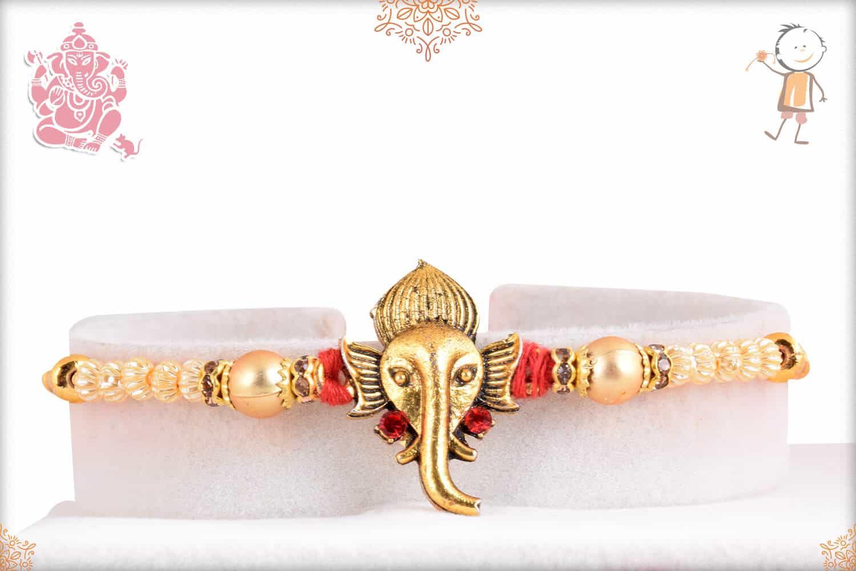 Divine Ganeshji with Unique Pearls Rakhi 1