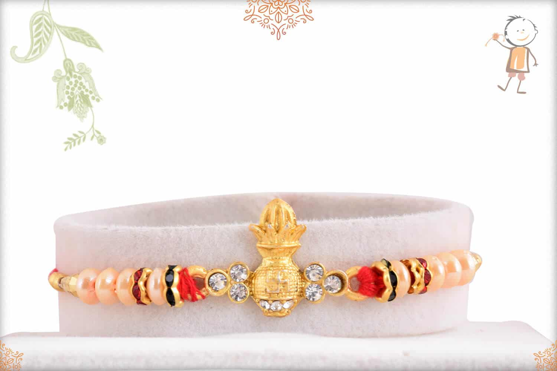 Auspicious Kalash with Pearls Rakhi 1