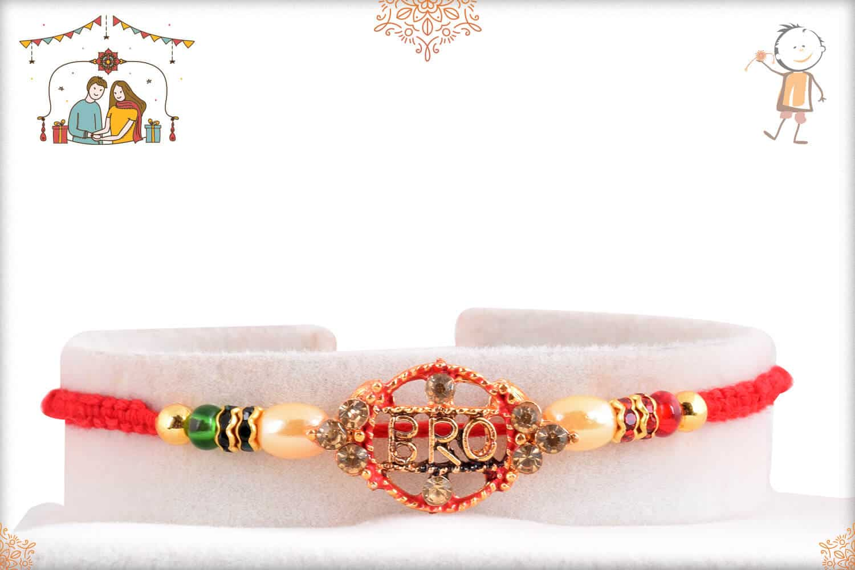 Bro Rakhi with Beautiful Pearls Rakhi 1