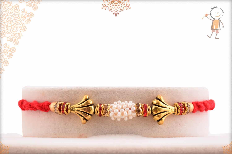 Exclusive Pearl Rakhi with Diamonds 1