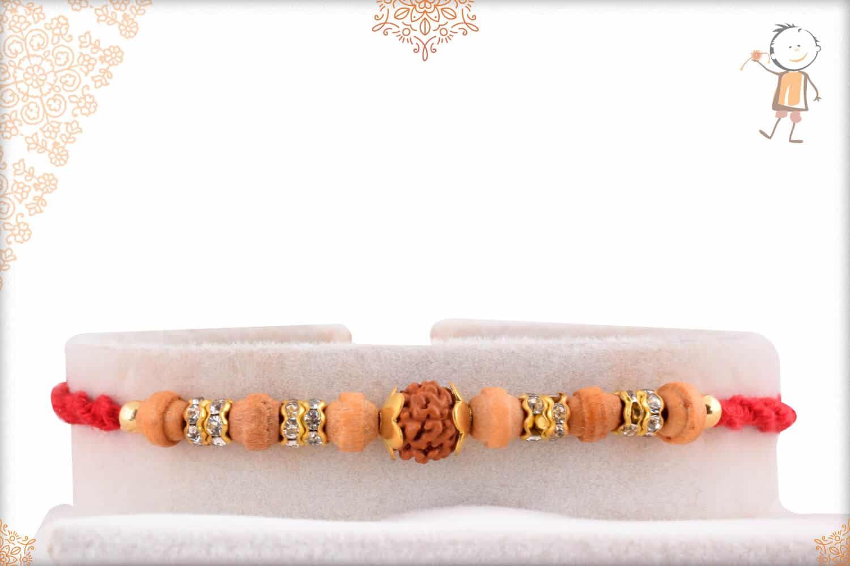 Single Rudraksh Rakhi with Aromatic Sandalwood Beads 1